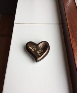 Mini urn hart met vlinders