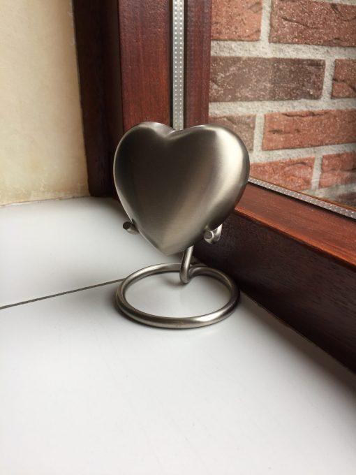 Mini urn hart zilver